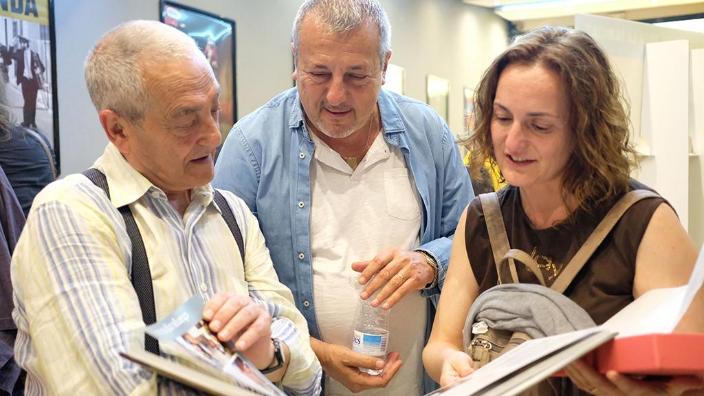 Txema Lorente y Marcos Horman y Yolanda en el pre-estreno de La Promesa en Barcelona (4/06/2019) / Foto: Manuela Balart Romero