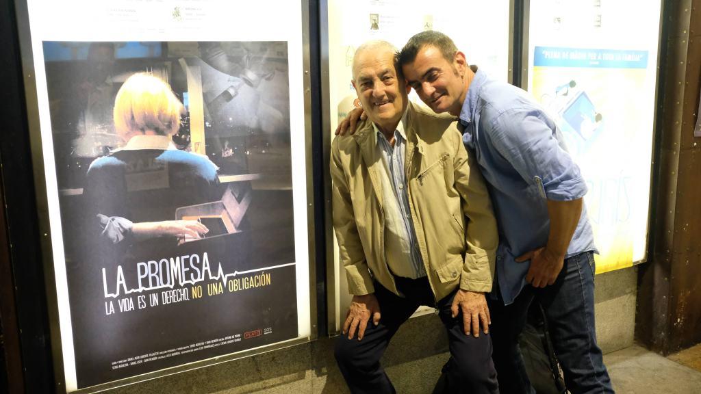 Txema Lorente y Danel Lorente en el pre-estreno de La Promesa en Barcelona (4/06/2019) / Foto: Manuela Balart Romero