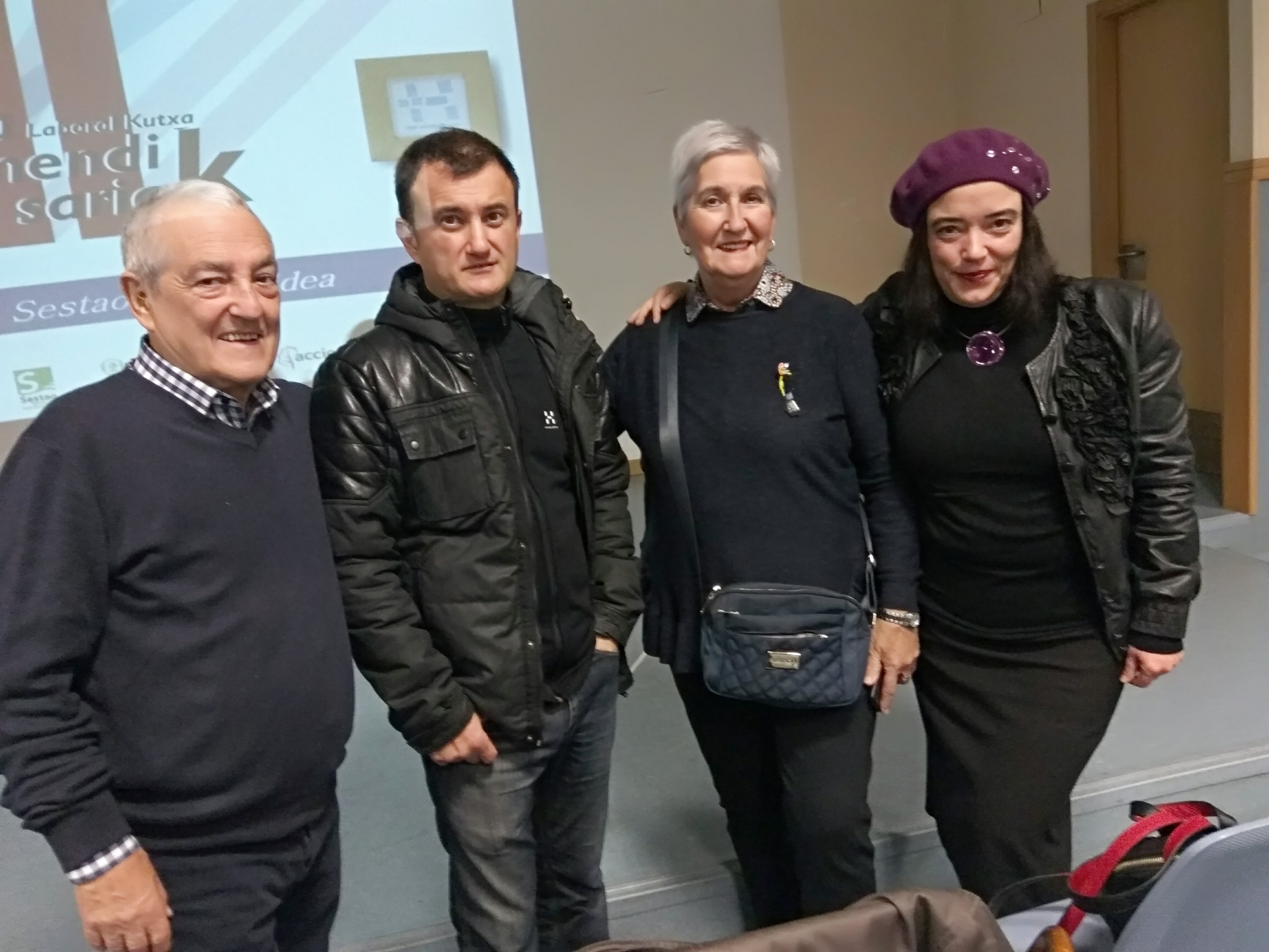 Txema y David Lorente, Agustina Fernández e Itxaso Tellaetxe (parte del equipo SOS AMATXU)